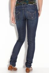 Vigoss Brooklyn Skinny Stretch Denim Jeans (dark Wash) (juniors) - Lyst