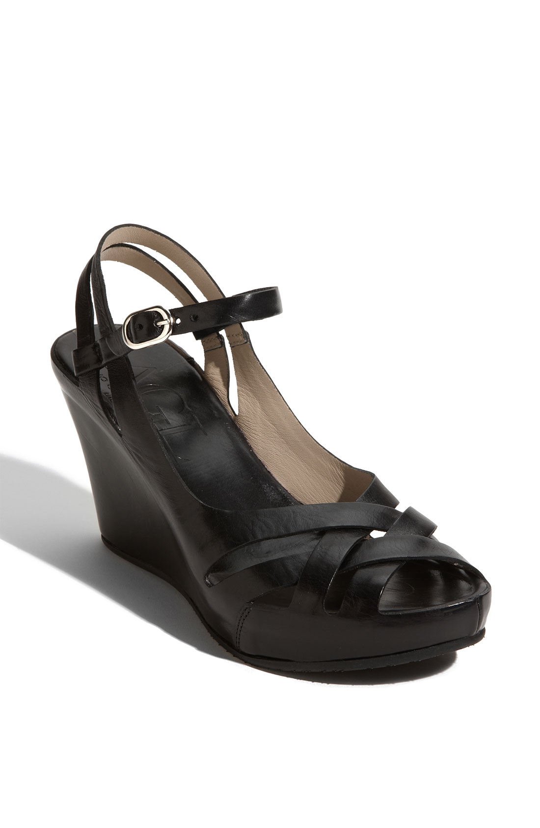 Attilio Giusti Leombruni Wedge Sandal In Black Lyst