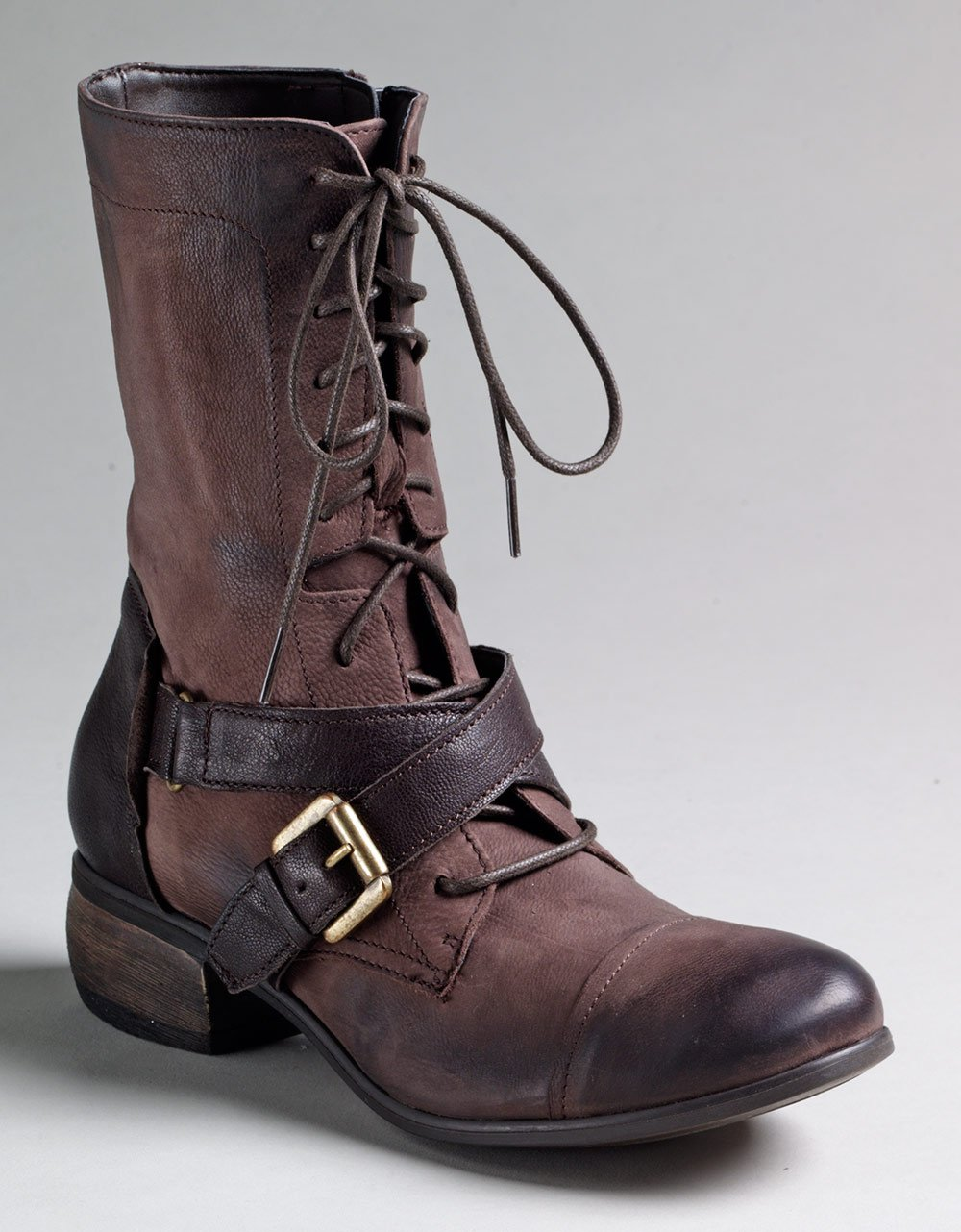 boutique 9 faunus buckle leather boots in brown