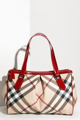 Burberry Check Print Shopper - Lyst