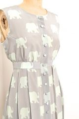 Charlotte Taylor Shirt Dress With Elephants By in Purple (elephant) - Lyst