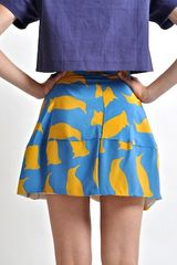 Charlotte Taylor Silk Penguin Alice Skirt  in Blue (purple) - Lyst