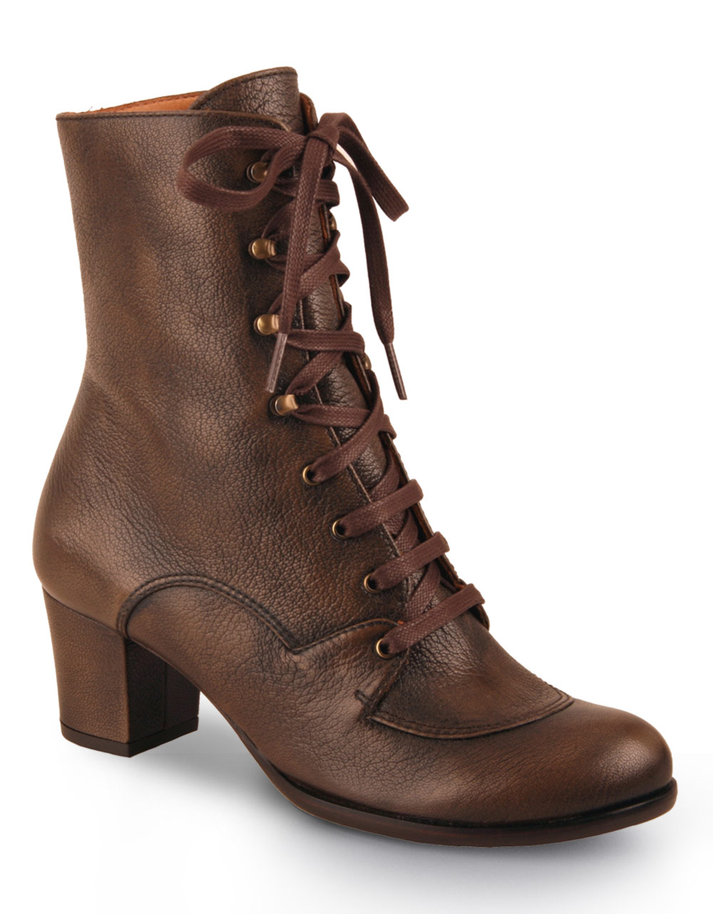 chie mihara jonathan lace up leather boots in brown taupe