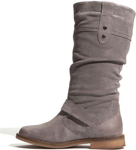 eric michael mesa flat boot in gray grey lyst