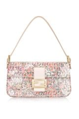 Fendi Flower & Sequins Zucchino Baguette Bag in Floral - Lyst
