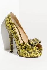 Fendi Deco Watersnake Platform Pump - Lyst