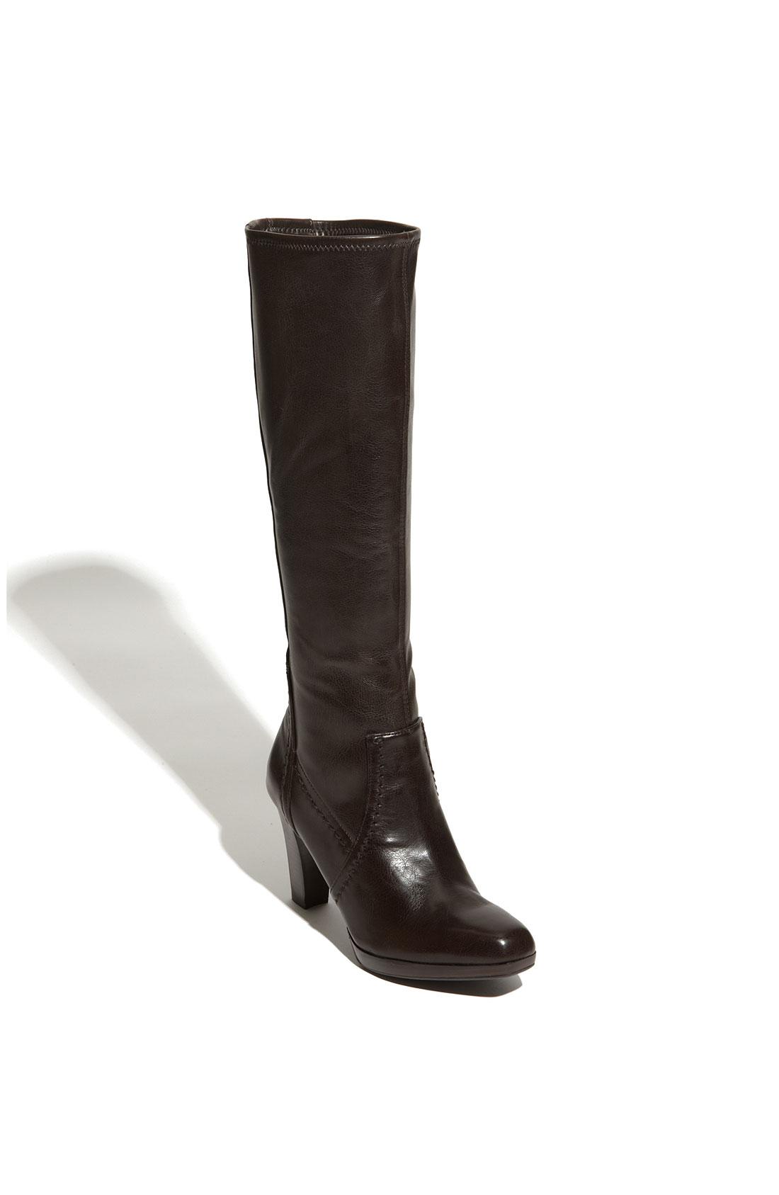 franco sarto yonkers stretch boot in black tmoro lyst