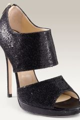 Jimmy Choo Private Cuff Glitter Fabric Sandal - Lyst