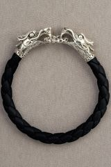 John Hardy Black Leather Dragon Bracelet - Lyst