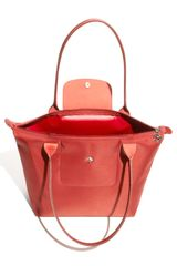 Longchamp Planetes Tonal  Small Shopper in Red (cinders) - Lyst