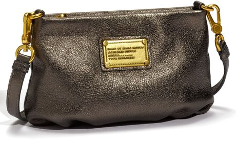Marc By Marc Jacobs Classic Q  Percy Crossbody Bag in Gold (pewter) - Lyst