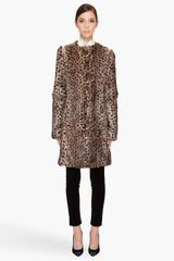 Matthew Williamson Rabbit Fur Leopard Coat - Lyst