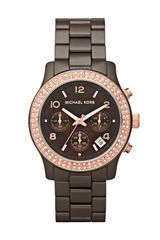 Michael Kors Mid-size Runway Watch, Brown - Lyst