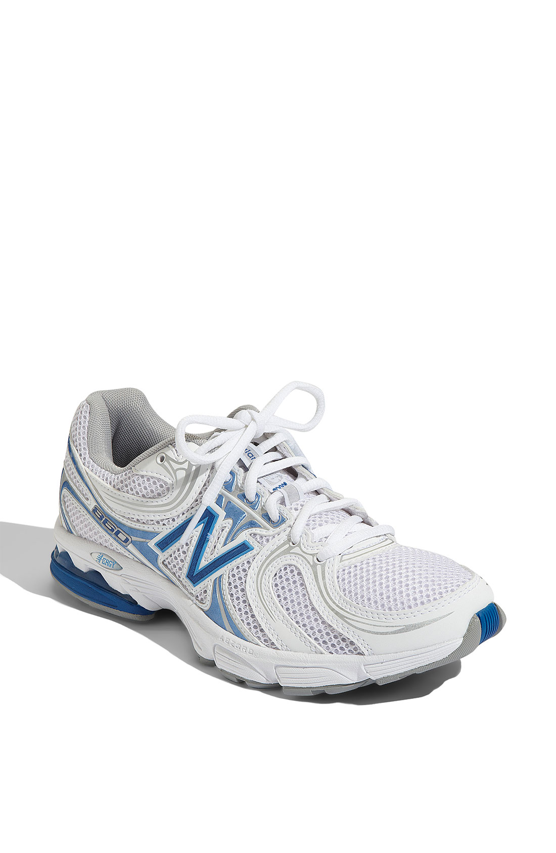 new balance 860 walking shoe in white white blue