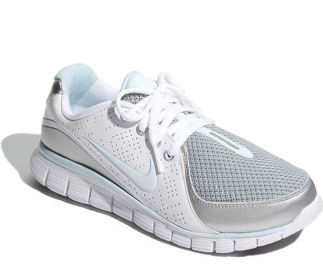 Nike Free Walk+ Walking Shoe (women) in Silver (metallic silver/ white