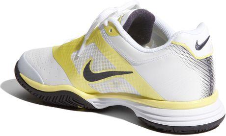 Nike Lunar Speed 3 Tennis Shoe (women) in Yellow (white/gridiron