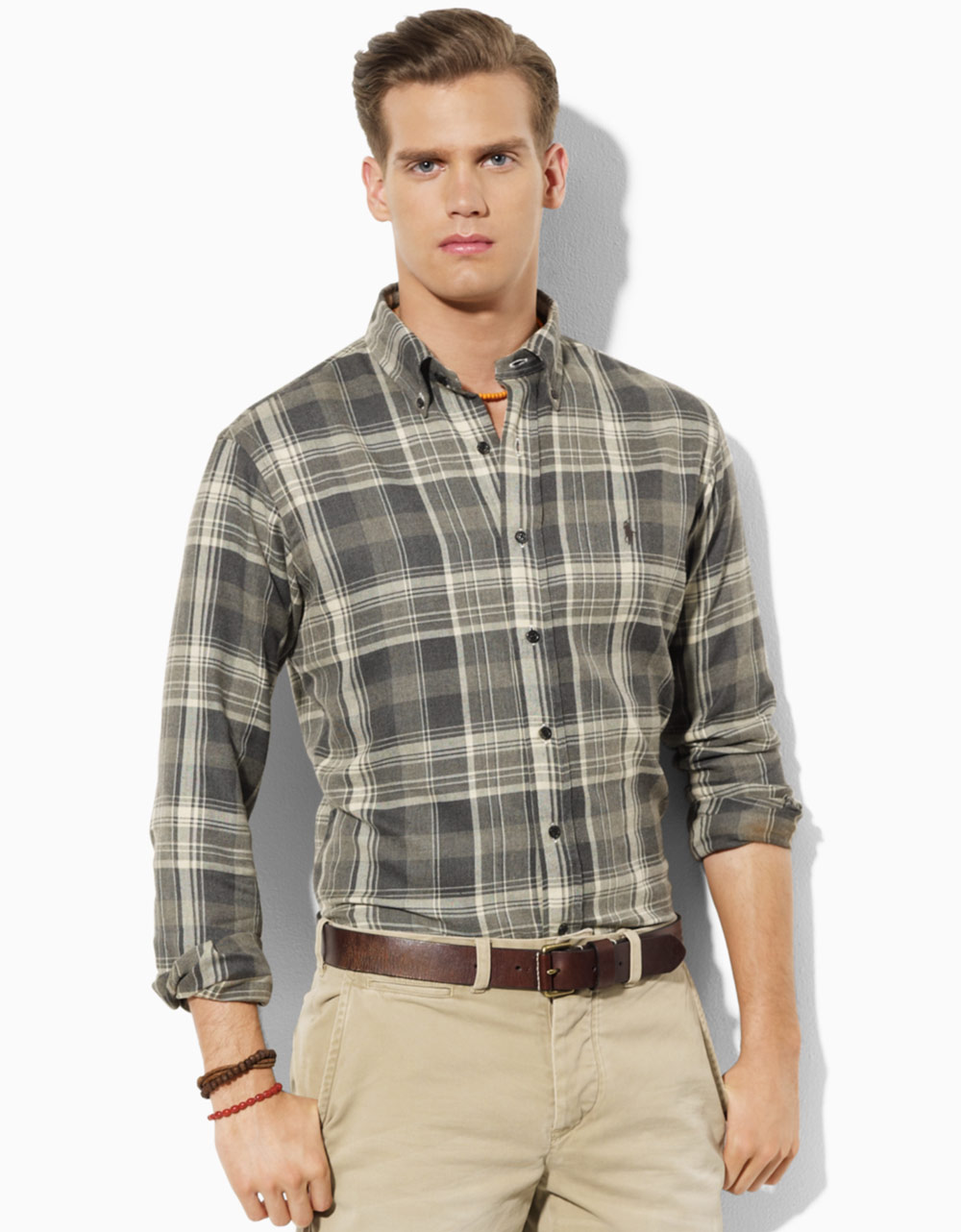 polo ralph lauren classic fit plaid twill sport shirt in. Black Bedroom Furniture Sets. Home Design Ideas