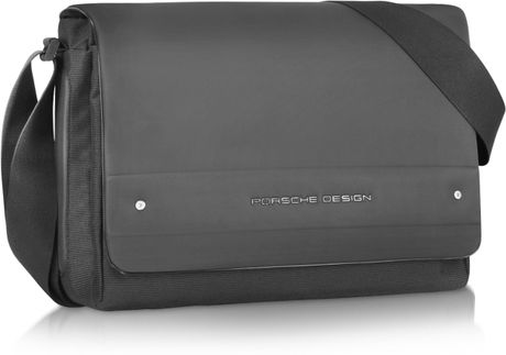 Porsche Design Black Laptop Messenger Bag in Black for Men - Lyst