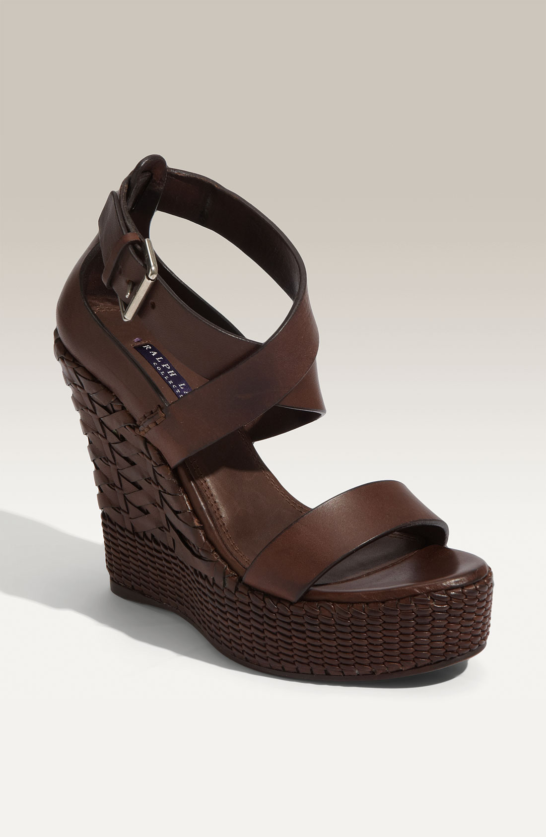 Ralph Lauren Collection Womens Finna Strappy Woven Wedge