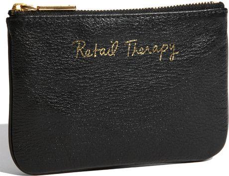 Rebecca Minkoff Cory - Retail Therapy Pouch in Black (black/ retail therapy)