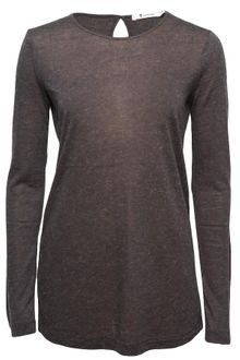 T By Alexander Wang Slit-back Long Sleeve T-shirt - Lyst