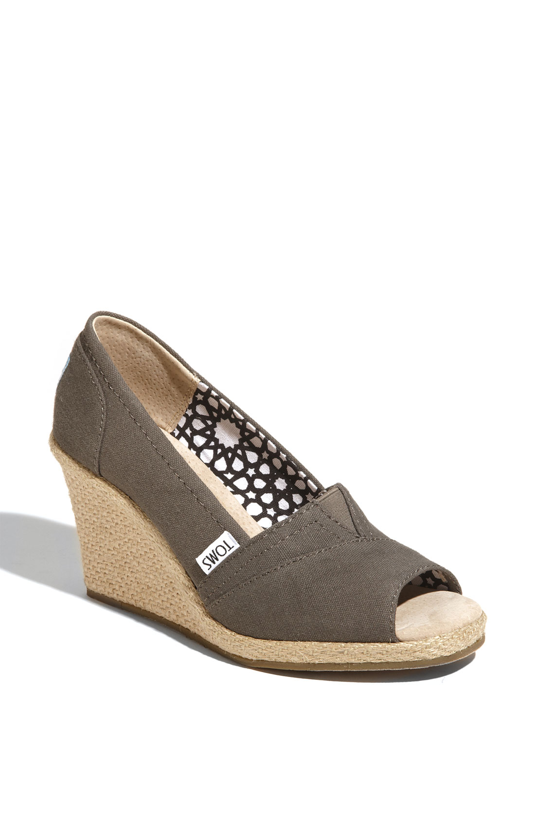 Toms Canvas Wedge Women In Gray Ash Grey Lyst