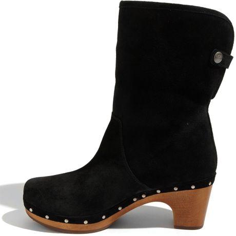 ugg lynnea ankle boot in black black suede lyst