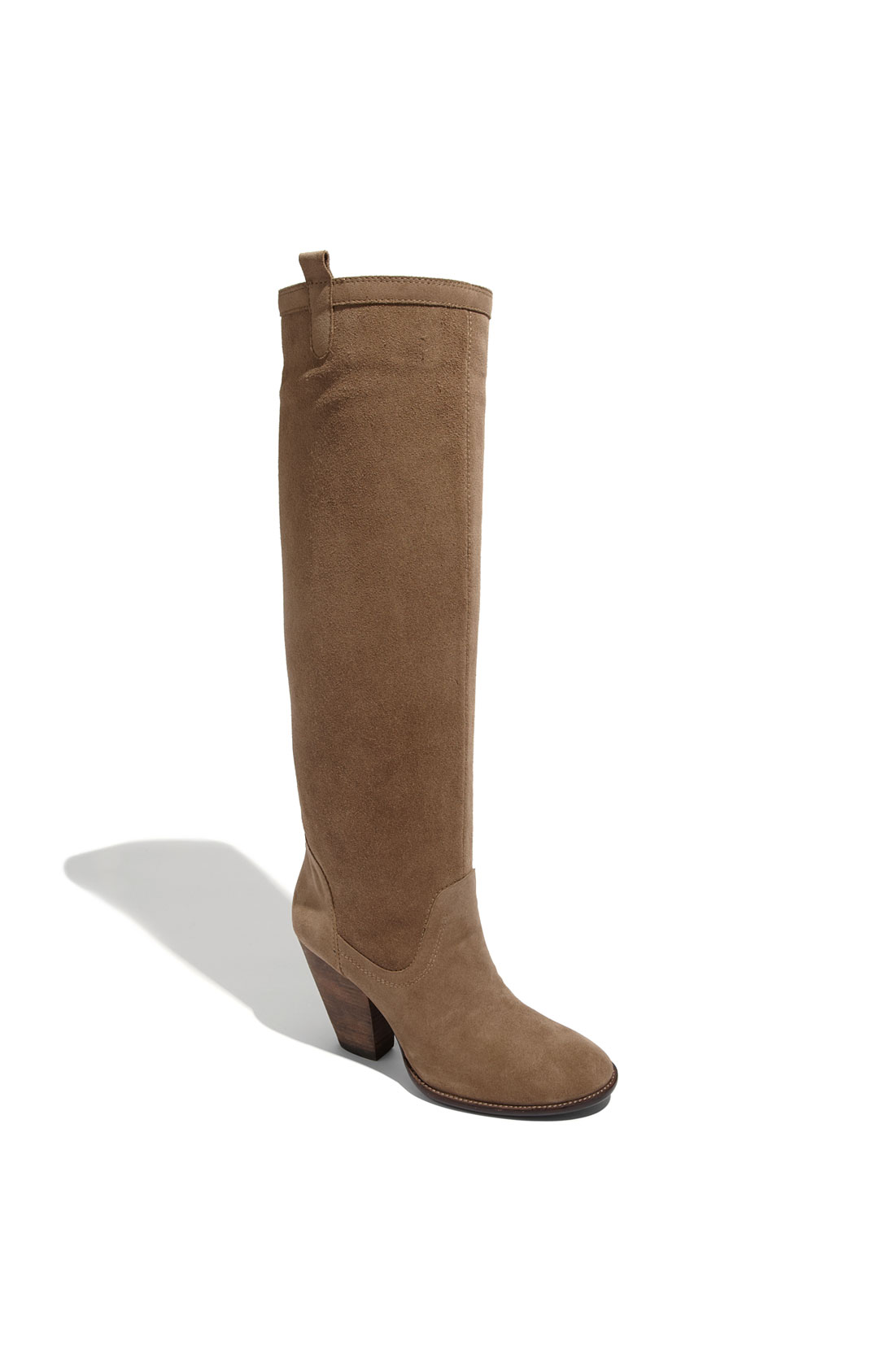 vince camuto braden suede boot in brown taupe lyst