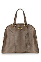 Yves Saint Laurent Muse - Oversized Leather Tote Bag - Lyst