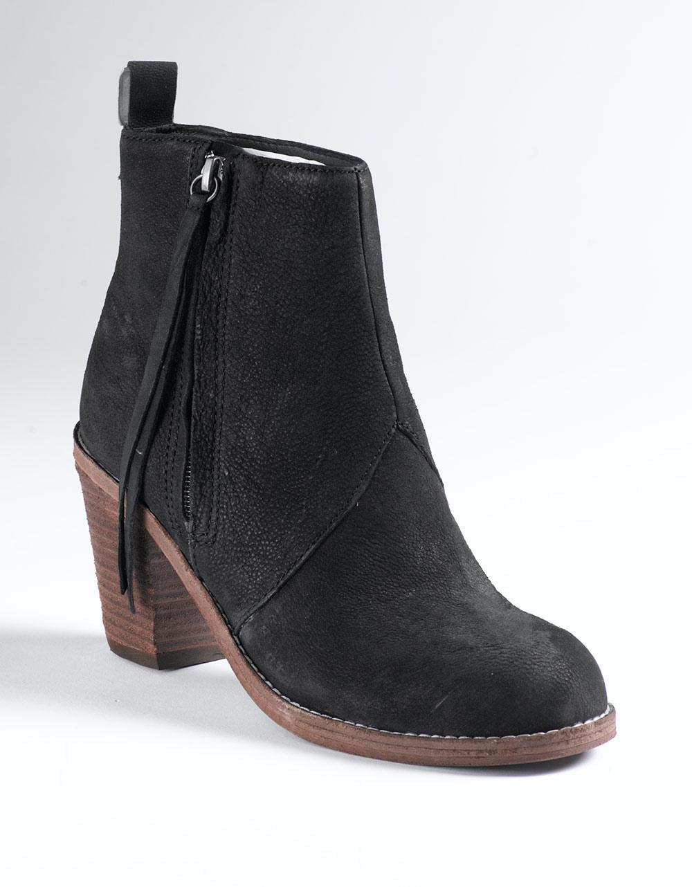 dolce vita jax ankle boots in black black nubuck lyst