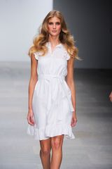 Issa Spring 2012 Sleeveless Eyelet Dress with Tie Waist Belt