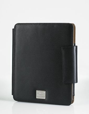 Lauren by Ralph Lauren Newbury Black Leather Ipad Case - Lyst