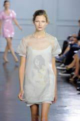 Richard Nicoll Spring 2012 Short Sleeve Sheer Floral Minidress - Lyst