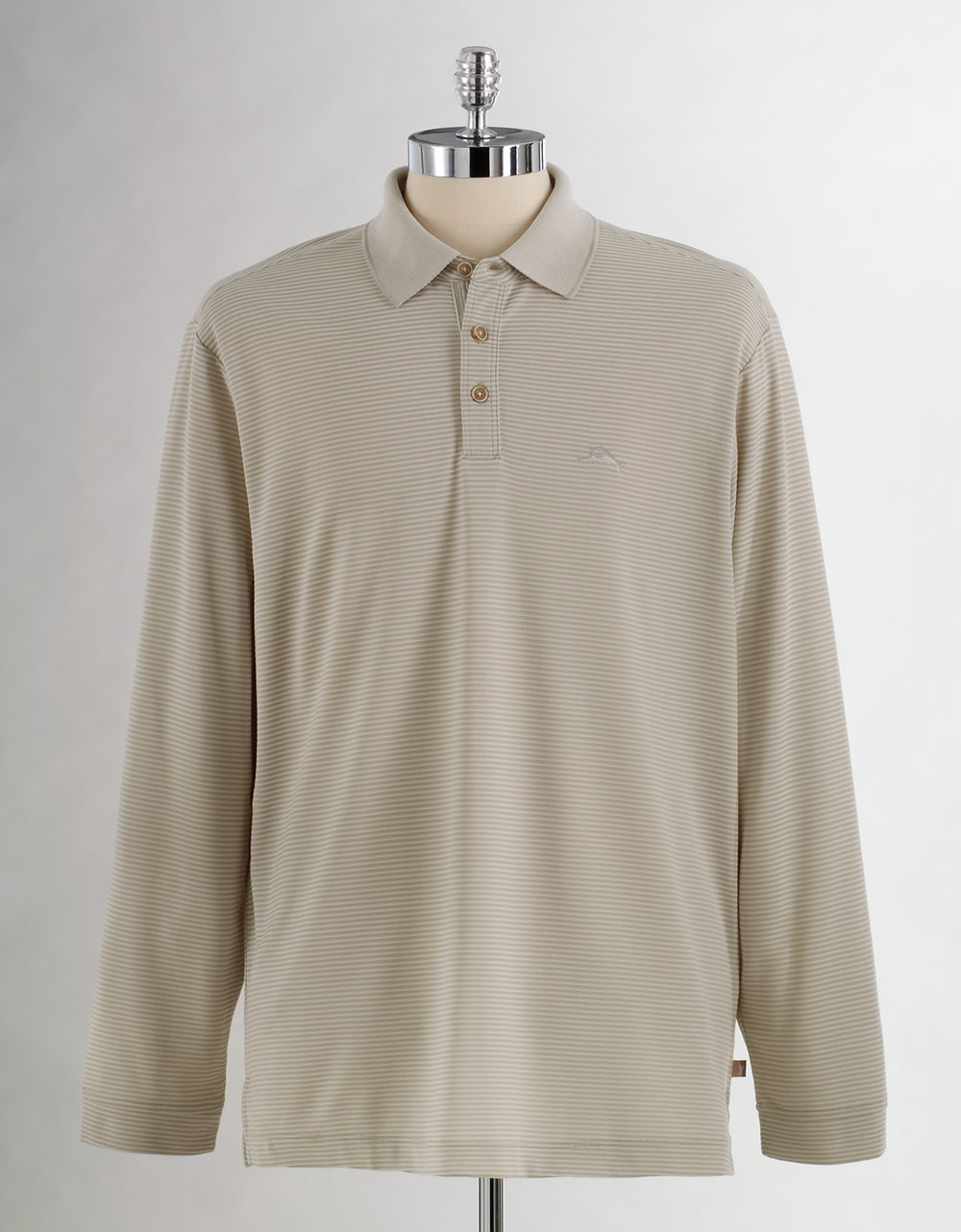 Tommy Bahama Superfecta Long Sleeved Polo Shirt In Brown