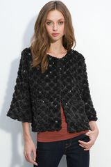 Collection Xiix Sequined Faux Fur Jacket - Lyst