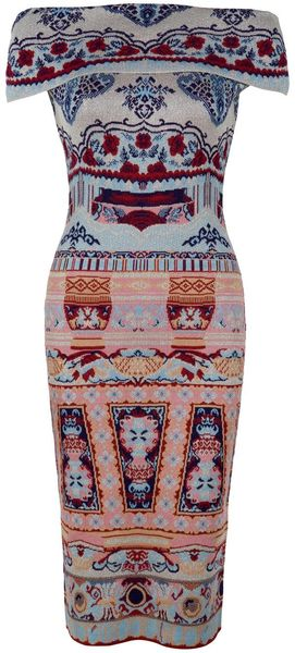 Mary Katrantzou Coromandel Strapless Flap Dress - Lyst