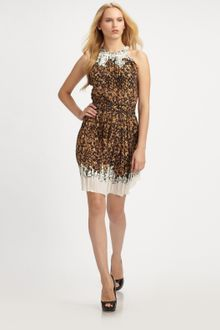 Roberto Cavalli Silk Dress - Lyst