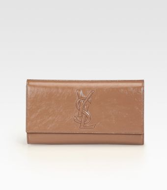 Yves Saint Laurent Ysl Large Patent Leather Clutch - Lyst