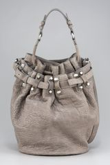 Alexander Wang Diego Bucket Bag, Gray - Lyst