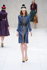 Burberry Prorsum Spring 2012 Blue Rafia Belt in Blue - Lyst