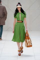 Burberry Prorsum Spring 2012 Black and Orange Belt in Orange - Lyst