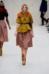 Burberry Prorsum Spring 2012 Raffia Collar In Orange in Orange - Lyst