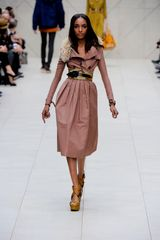Burberry Prorsum Spring 2012 Raffia Wedge Sandals In Brown - Lyst