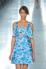 Christopher Kane Spring 2012 Blue Flower Print Mini Cocktail Dress  in Blue - Lyst