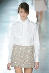 Christopher Kane Spring 2012 Beaded Mini Skirt in Multicolor - Lyst