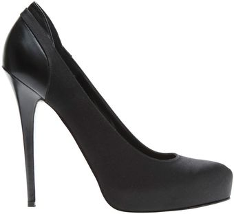 Eastland Satin and Leather Platform Pumps - Lyst