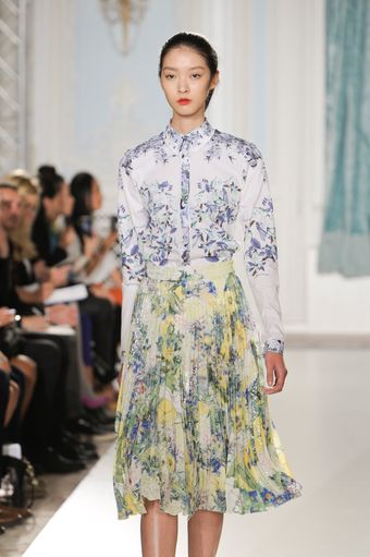 Erdem Spring 2012 Shirt With Blue Floral Print - Lyst