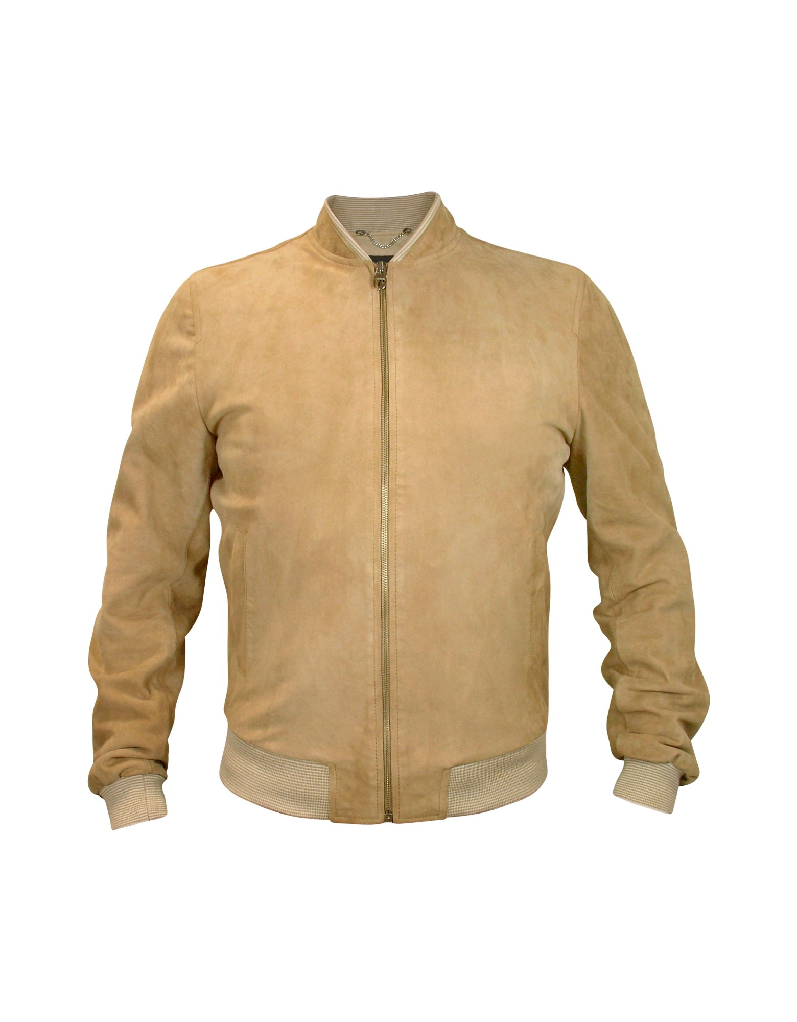 Forzieri Men S Light Brown Suede Zip Jacket In Brown For