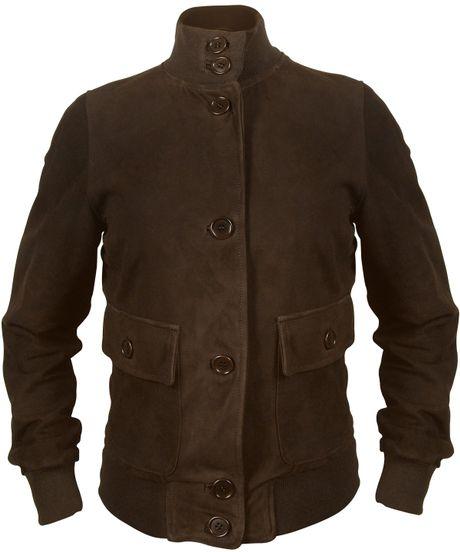 Womens brown suede jacket