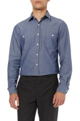 Hentsch Man Classic Chambray Shirt in Blue for Men (chambray) - Lyst